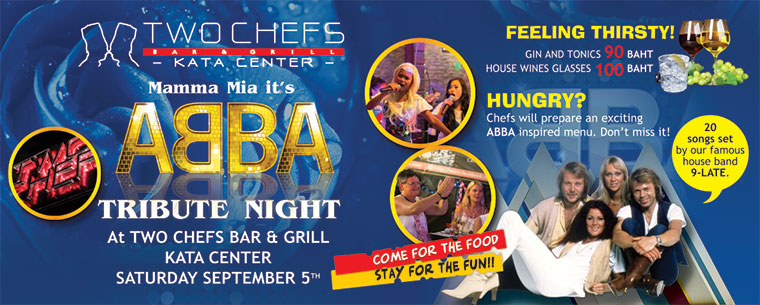 MAMMA MIA! ABBA'S Coming to Town at Two Chefs Kata Beach!!!