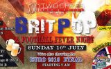 Brit Pop & Football Fever Night on Sunday, July 10th @ Two Chefs Karon