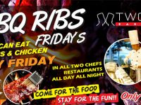 BBQ Ribs Friday's @ All Two Chefs Restaurants