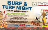 Surf & Turf Night | Every Wednesday, 1 – 30 April @ All Two Chefs Restaurants