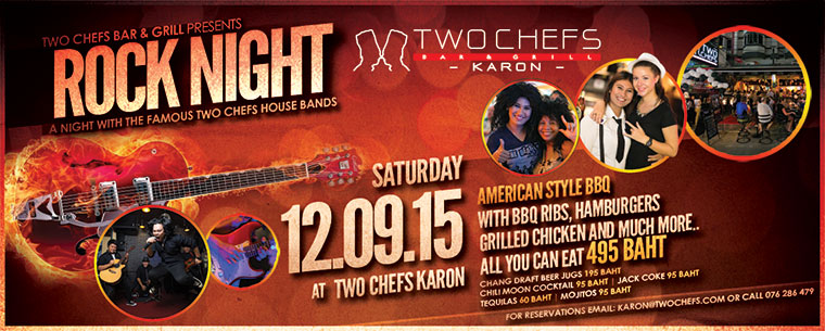 Ready to Rock @ Two Chefs Karon?