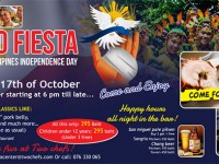 FILIPINO FIESTA! It's Happening! This SAT Oct 17th @ Two Chefs Kata Center!