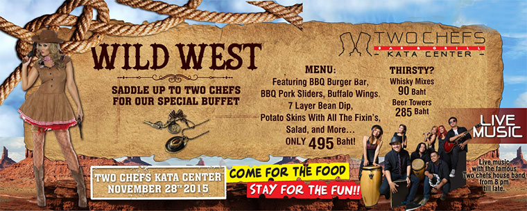 Feel Like Getting Wild? Join Us Tonight For Our WILD WEST Event!