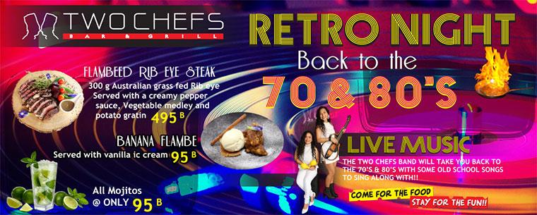 Retro Night Thursday @ Two Chefs Karon & Patong