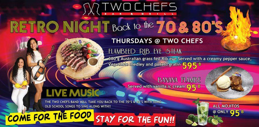 Retro Night is TONIGHT Oct 3rd @ Two Chefs