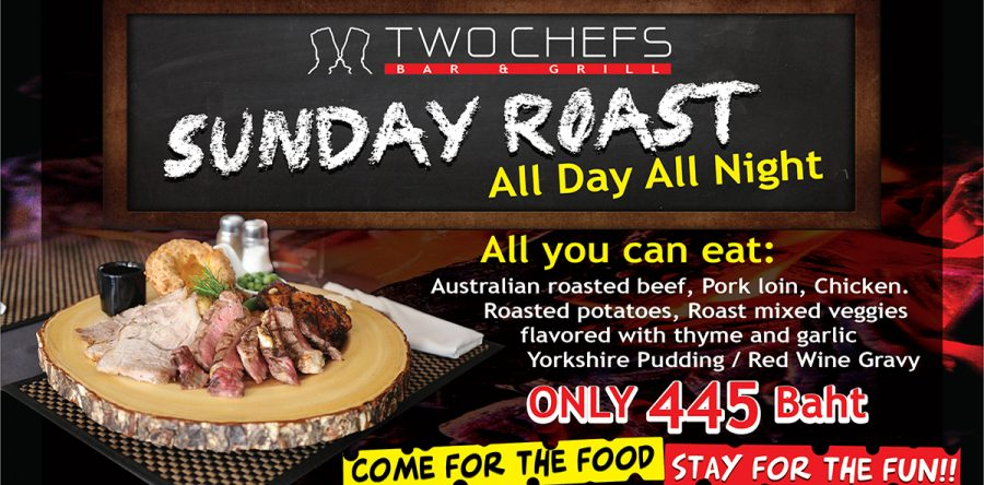 Sunday Roast @ All Two Chefs Restaurants