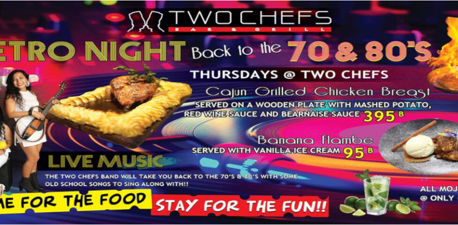 Retro Night is TONIGHT Oct 3rd @ Two Chefs